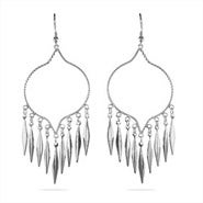 Western Style Sterling Silver Chandelier Earrings