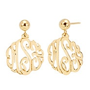 Gold Custom Monogram Earrings