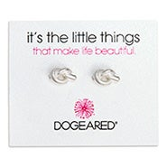 Dogeared Love Knot Sterling Silver Stud Earrings