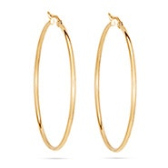 "2"" Gold Stainless Steel Hoop Earrings"