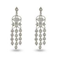Designer Style CZ Sway Chandelier Earrings