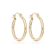 "14K Gold 3/4"" Hoop Earrings"