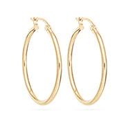 """14K Gold 1"""" Hoop Earrings"""