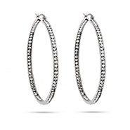 """2"""" Inside Out CZ Hoop Earrings"""
