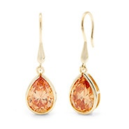 Royalty Inspired Champagne Gold Peardrop Earrings