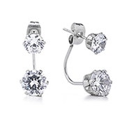 Brilliant CZ Double Stud Earrings