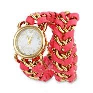 Pink Gold Chain Link Wrap Watch