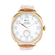 La Mer Vintage Oversize Tan and Gold Watch