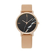 Black Marble Face Rose Gold and Nude Watch