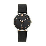 Men's Black Distressed Strap Watch