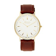 Men's Classic Gold and Dark Brown Watch