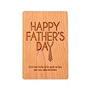 Carved Personalized Father's Day Wood Postcard