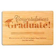 Congratulations Graduate Wood Graduation Card