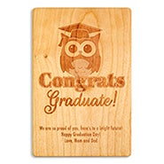Congrats Graduate Wise Owl Graduation Wood Card