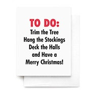 Christmas To Do List Greeting Card