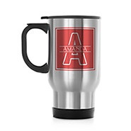 Personalized Initial Stainless Steel Travel Mug
