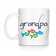 Personalized Fishing Grandpa Mug