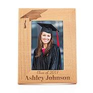 Engravable Graduation Hat Wood Frame