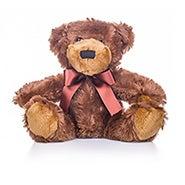 Teddy Bear with Dark Brown Bow