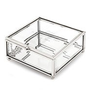 Engravable Glass Square Jewelry Box