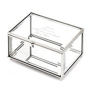 Engravable Glass Rectangle Jewelry Box