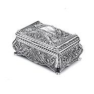 Engravable Ornate Rectangle Jewelry Box