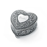 Engravable Genoa Vintage Heart Jewelry Box