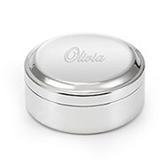 Engravable Round Jewelry Box