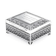 Custom Coordinate Vintage Style Square Jewelry Box