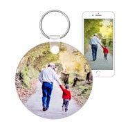 Round Custom Photo Keychain