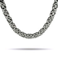 Men's Stainless Steel Bali Link Necklace