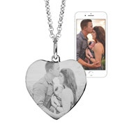 Custom Heart Photo Necklace