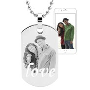 LOVE Photo Dog Tag Necklace