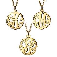 Petite Initial Gold Monogram Pendant