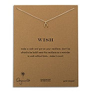 Dogeared Wish Gold Dipped Necklace