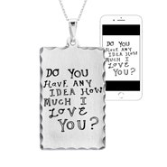 Personalized Handwritten Dog Tag Necklace