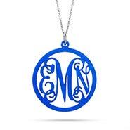 Fancy Script Monogram Acrylic Necklace