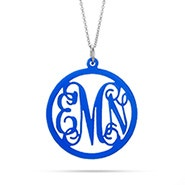 Fancy Script Monogram Acrylic Necklace