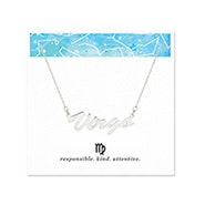 Virgo Zodiac Silver Nameplate Necklace