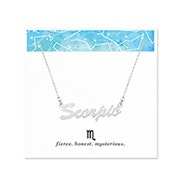 Scorpio Zodiac Silver Nameplate Necklace