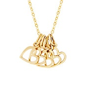 Petite Five Open Hearts Gold Necklace