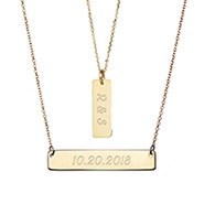 Layered Gold Name Bar Necklace