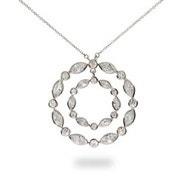 Designer Style Sway Circle CZ Necklace