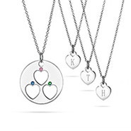 Mother Daughter 3 Child One For You, One For Me Birthstone Pendant Set