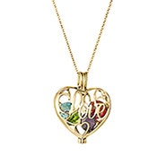 Gold Love Custom Birthstone Heart Locket