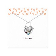 I Love You Key To My Heart Silver Birthstone Locket