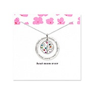 Best Mom 9 Stone Birthstone Family Tree Necklace