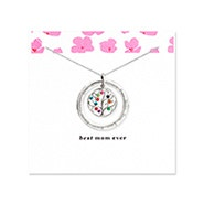 Best Mom 10 Stone Personalized Birthstone Family Tree Pendant