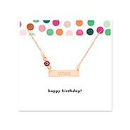 Birthday Birthstone Rose Gold Name Bar Necklace