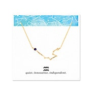 Aquarius Zodiac Birthstone Gold Constellation Necklace
